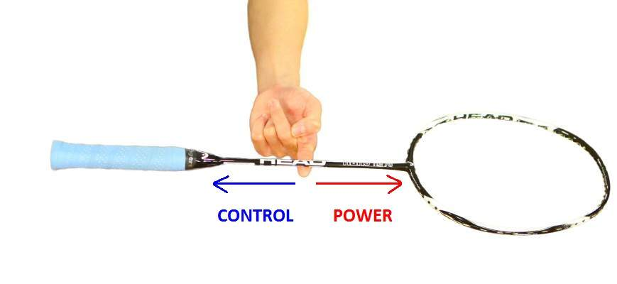 how to find the balance point of badminton racket